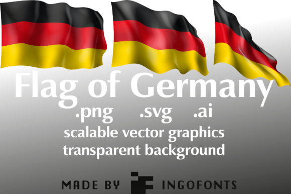Download Free Waving Flag Of Germany Graphic By Ingofonts Creative Fabrica for Cricut Explore, Silhouette and other cutting machines.