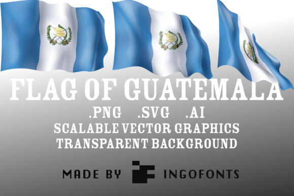 Download Free Waving Flag Of Guatemala Grafico Por Ingofonts Creative Fabrica for Cricut Explore, Silhouette and other cutting machines.