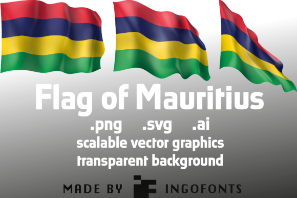 Download Free Waving Flag Of Mauritius Graphic By Ingofonts Creative Fabrica for Cricut Explore, Silhouette and other cutting machines.