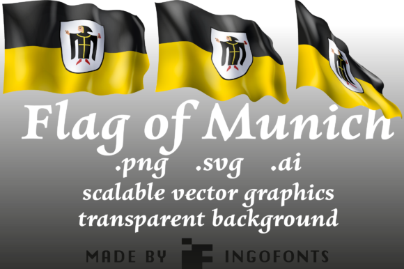 Download Free Waving Flag Of Munich Graphic By Ingofonts Creative Fabrica for Cricut Explore, Silhouette and other cutting machines.