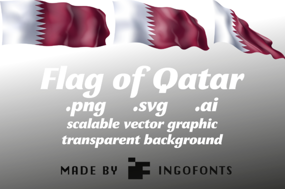 Download Free Waving Flag Of Qatar Graphic By Ingofonts Creative Fabrica for Cricut Explore, Silhouette and other cutting machines.