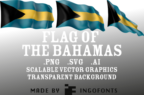 Download Free Waving Flag Of The Bahamas Graphic By Ingofonts Creative Fabrica for Cricut Explore, Silhouette and other cutting machines.