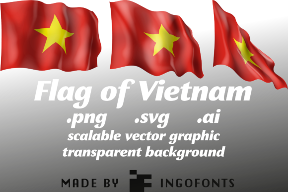 Download Free Waving Flag Of Vietnam Graphic By Ingofonts Creative Fabrica for Cricut Explore, Silhouette and other cutting machines.