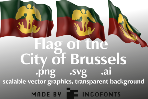 Download Free Waving Flag Of The City Of Brussels Grafico Por Ingofonts for Cricut Explore, Silhouette and other cutting machines.