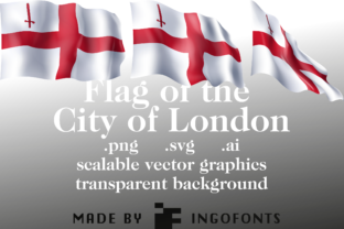 Download Free Waving Flag Of The City Of London Graphic By Ingofonts for Cricut Explore, Silhouette and other cutting machines.
