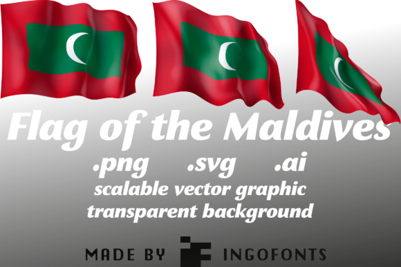 Download Free Waving Flag Of The Maldives Graphic By Ingofonts Creative Fabrica for Cricut Explore, Silhouette and other cutting machines.