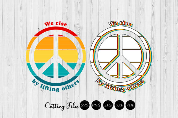 Print on Demand: We Rise by Lifting Others | Retro Design Graphic Graphic Templates By HD Art Workshop