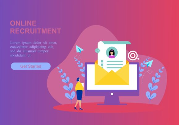 Web Page of Online Recruitment Job Logo Graphic Web Templates By DEEMKA STUDIO