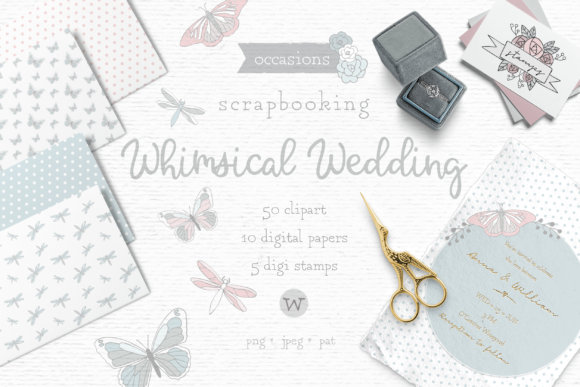 Print on Demand: Wedding Clipart Bundle Graphic Illustrations By Wallifyer