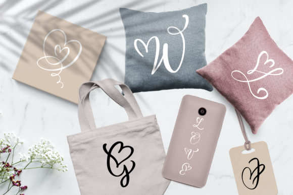 Print on Demand: Wedding Heart Display Font By Happy Letters - Image 2