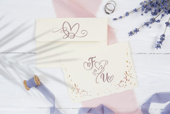 Print on Demand: Wedding Heart Display Font By Happy Letters - Image 4