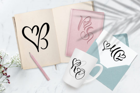 Print on Demand: Wedding Heart Display Font By Happy Letters - Image 5