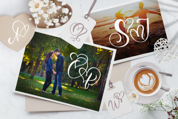 Print on Demand: Wedding Heart Display Font By Happy Letters - Image 6