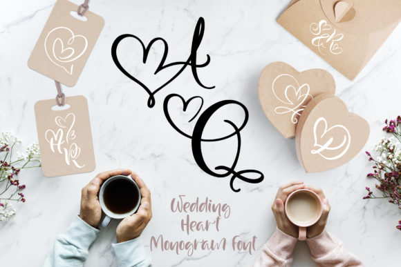 Print on Demand: Wedding Heart Display Font By Happy Letters - Image 1