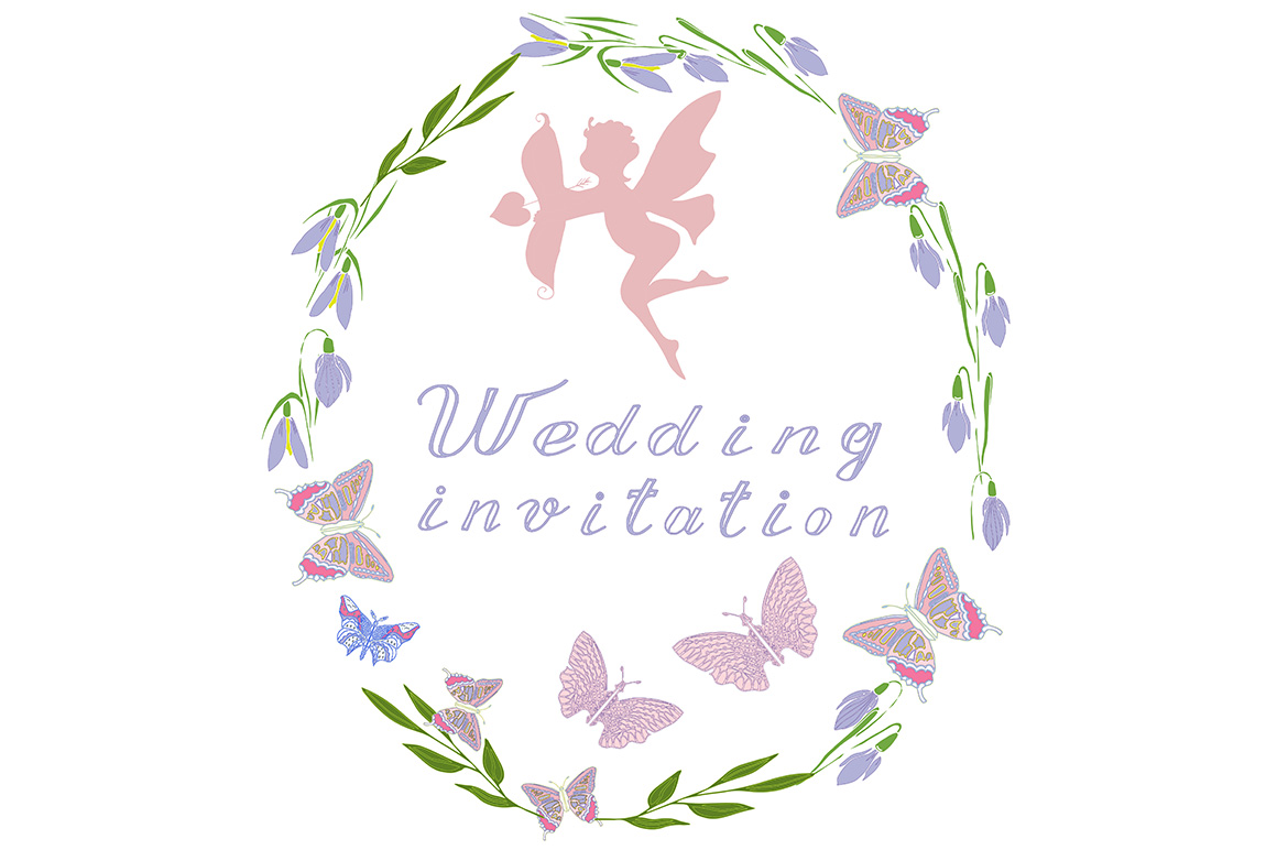 Download Free Wedding Invitation Graphic By Kakva Creative Fabrica for Cricut Explore, Silhouette and other cutting machines.