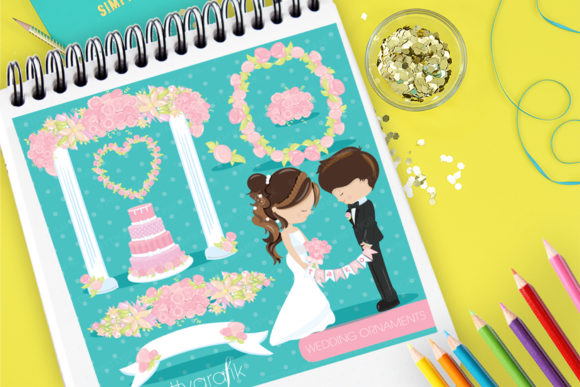 Print on Demand: Wedding Ornaments Graphic Illustrations By Prettygrafik