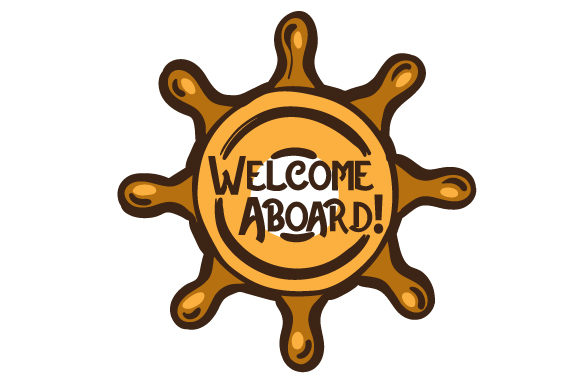 Welcome Aboard Nautical Craft Cut File By Creative Fabrica Crafts - Image 1