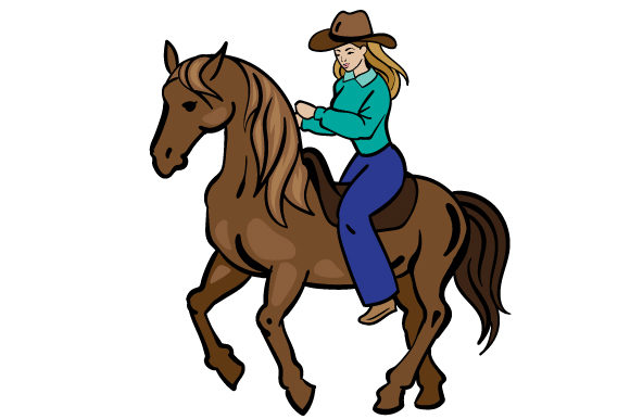 Download Free Western Riding Svg Cut File By Creative Fabrica Crafts for Cricut Explore, Silhouette and other cutting machines.