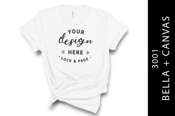 White Bella Canvas 3001 T Shirt Mockup Graphic Product Mockups By lockandpage