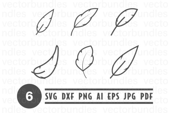 Print on Demand: White Feather Clip Art Graphic Crafts By vectorbundles