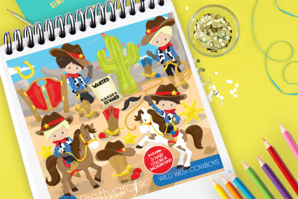 Print on Demand: Wild West Cowboys Graphic Illustrations By Prettygrafik