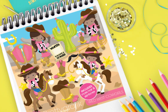 Print on Demand: Wild West Cowgirls Graphic Illustrations By Prettygrafik