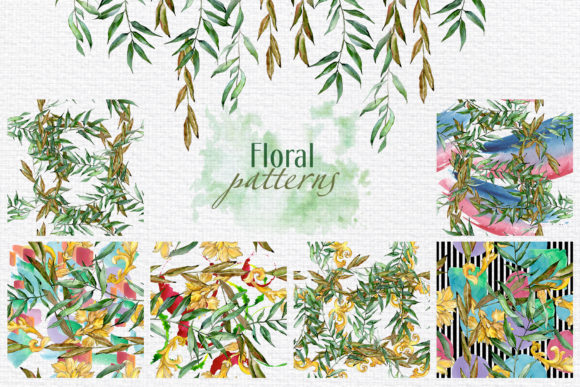 Print on Demand: Willow Branches Watercolor Png Graphic Illustrations By MyStocks - Image 5