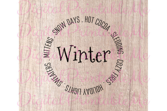 Download Free Winter Svg Snow Days Mittens Round Graphic By for Cricut Explore, Silhouette and other cutting machines.