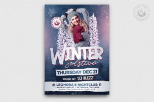 Winter Solstice Flyer Template V2 Graphic By ThatsDesignStore