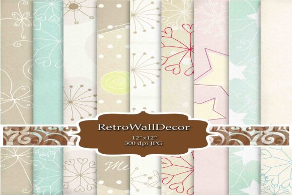 Print on Demand: Winter Papers Graphic Backgrounds By retrowalldecor