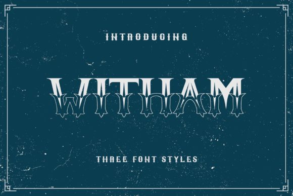 Print on Demand: Witham Family Display Font By BrandSemut