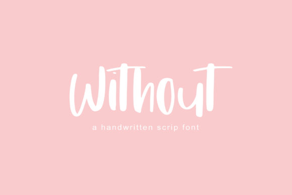 Print on Demand: Without Script & Handwritten Font By PaulaType - Image 1