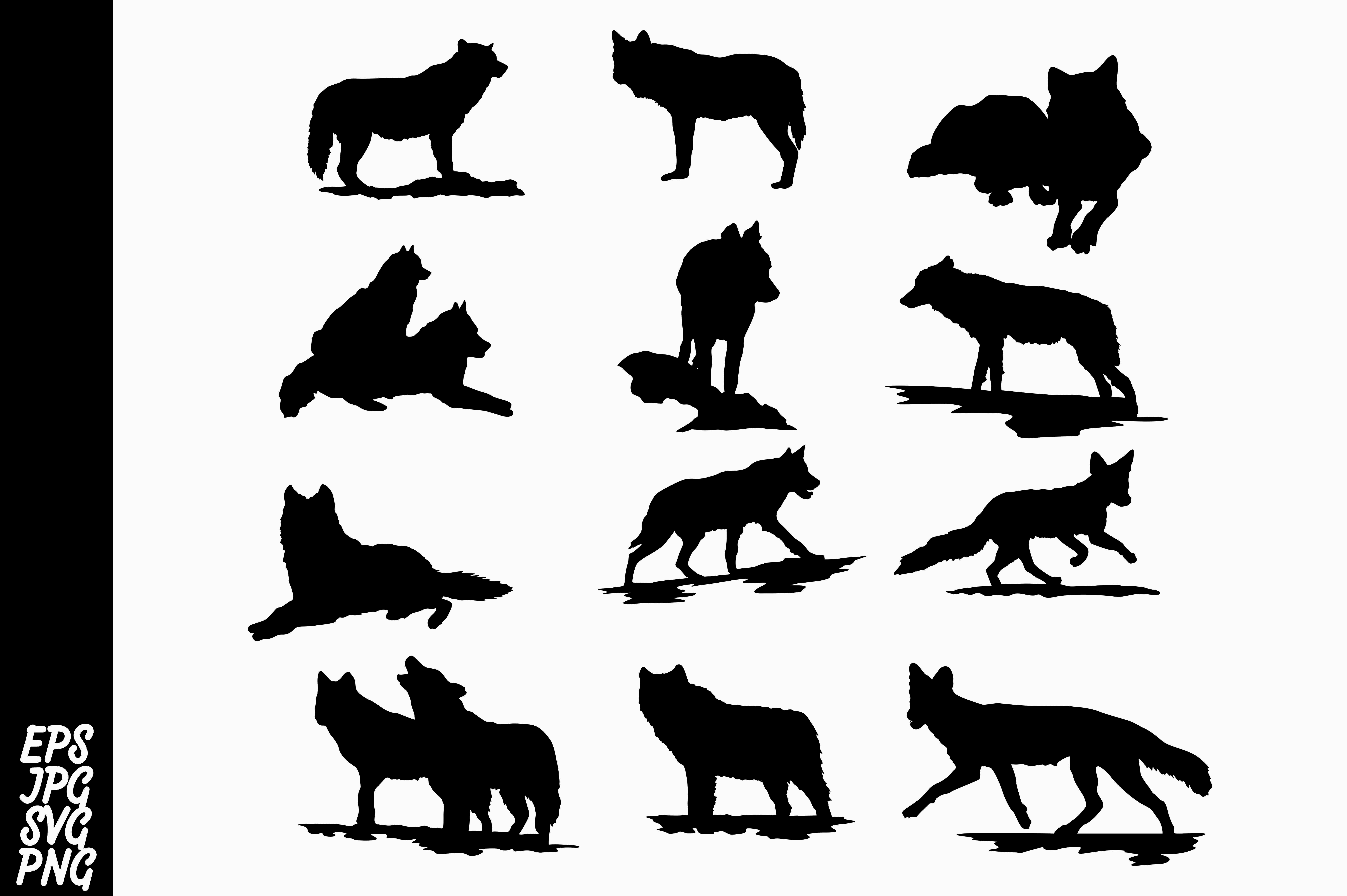 Download Free Wolf Silhouette Bundle Graphic By Arief Sapta Adjie Creative for Cricut Explore, Silhouette and other cutting machines.