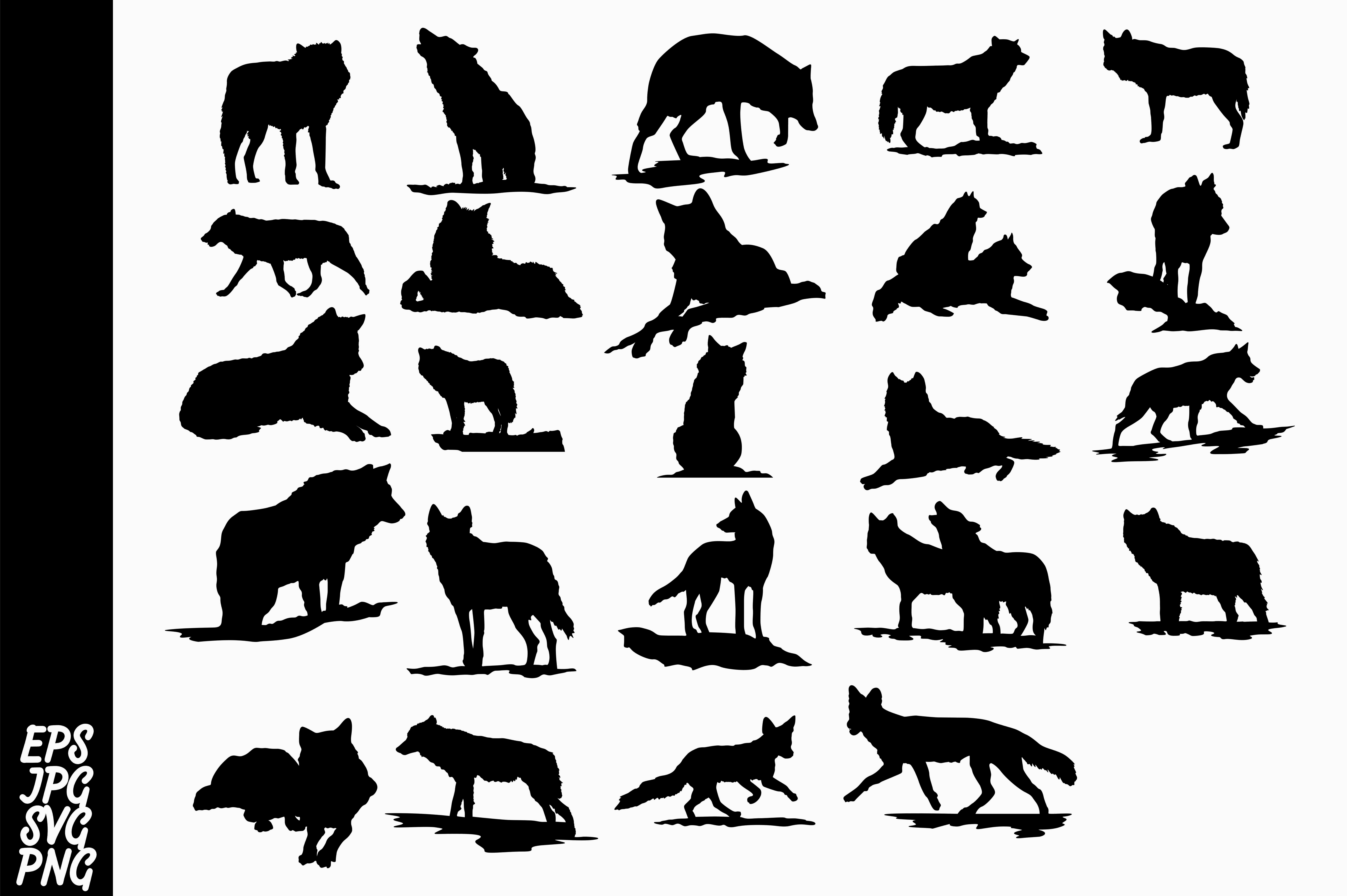 Download Free Wolf Silhouette Bundle Graphic By Arief Sapta Adjie Creative SVG Cut Files