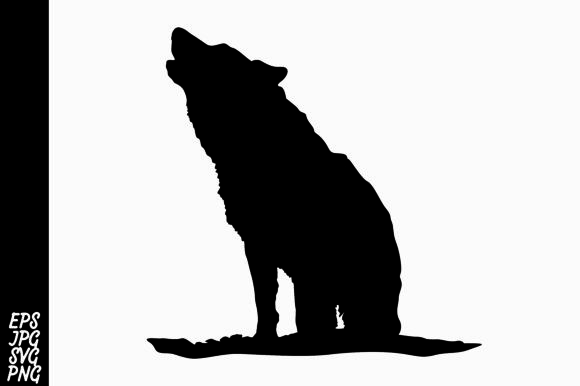 Download Free Wolf Silhouette Svg Graphic By Arief Sapta Adjie Creative Fabrica for Cricut Explore, Silhouette and other cutting machines.