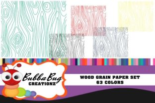 Wood Grain Paper Set Graphic Patterns By BUBBABUG