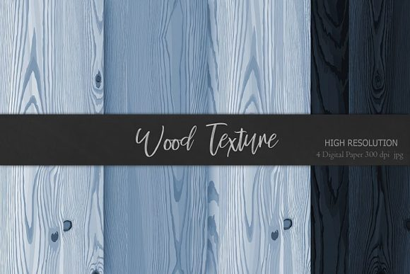 Print on Demand: Grey Blue Wood Textures Background Graphic Backgrounds By Creative Paper