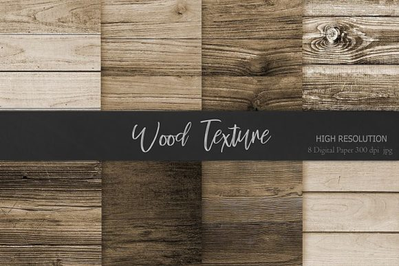 Print on Demand: Wood Textures, Backgrounds Graphic Backgrounds By Creative Paper