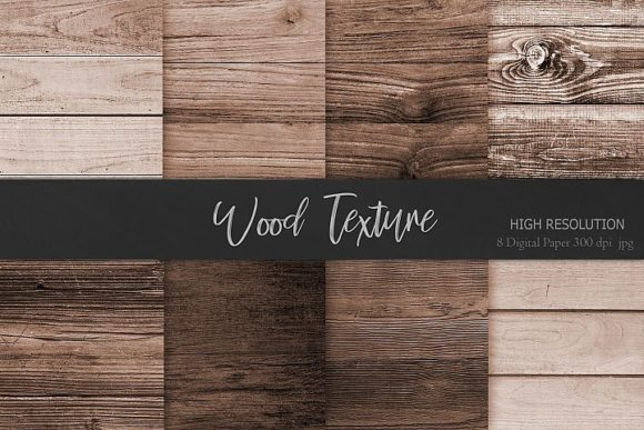 Print on Demand: Brown Wood Textures Backgrounds Graphic Backgrounds By Creative Paper - Image 1