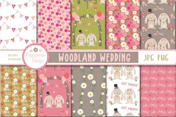 Print on Demand: Woodland Wedding Paper Graphic Patterns By poppymoondesign