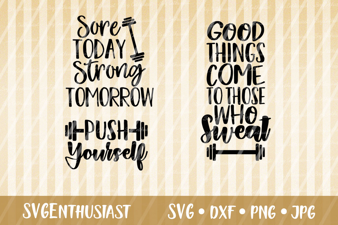 Download Free Workout Sayings Mini Bundle Svg Graphic By Svgenthusiast for Cricut Explore, Silhouette and other cutting machines.