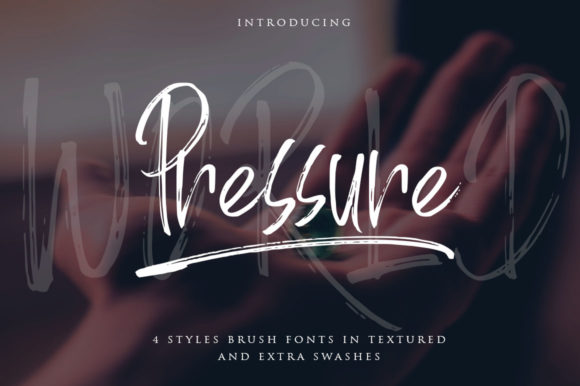 Print on Demand: World Pressure Script & Handwritten Font By Haksen