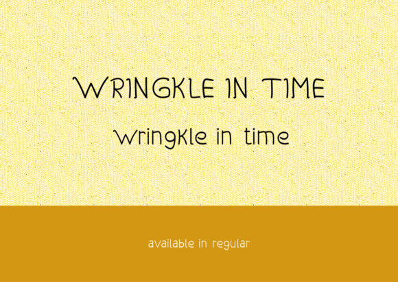 Wringkle in Time Font By valian Image 2