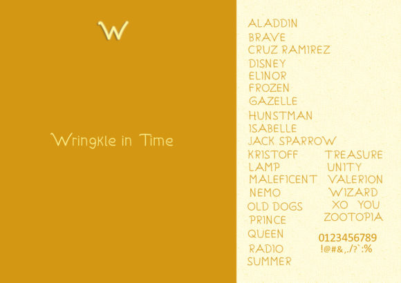 Wringkle in Time Font By valian Image 5