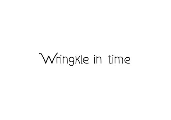 Print on Demand: Wringkle in Time Serif Fuente Por valian
