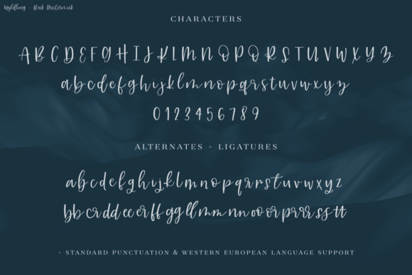 Print on Demand: Wyldling Script Script & Handwritten Font By BeckMcCormick - Image 10