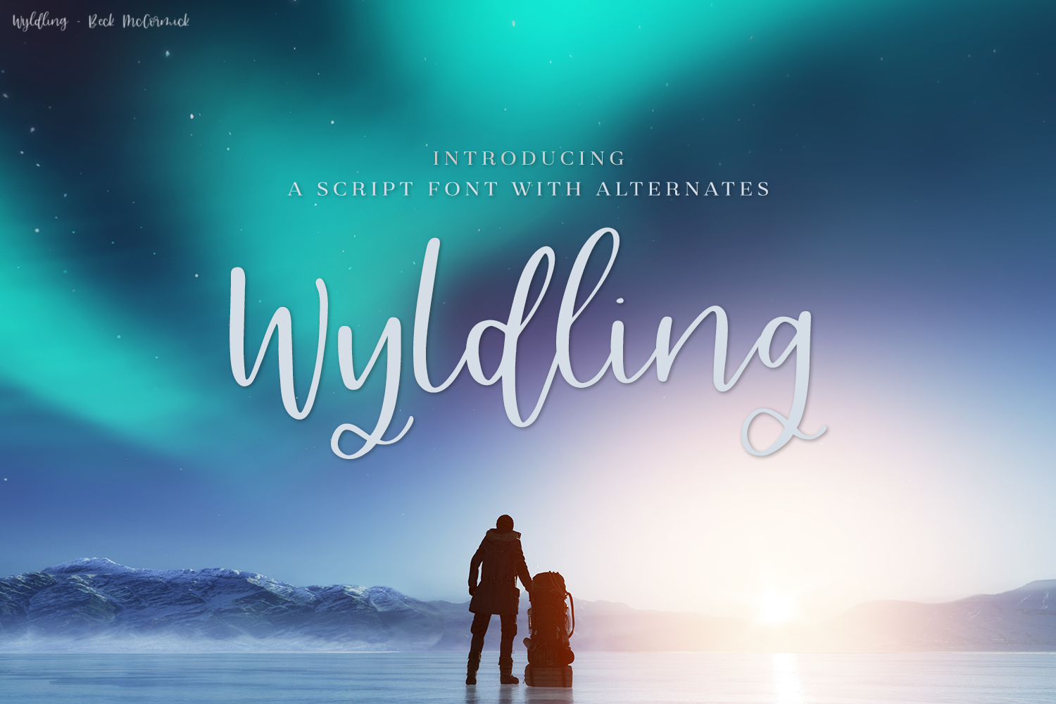 Download Free Wyldling Script Font By Beckmccormick Creative Fabrica for Cricut Explore, Silhouette and other cutting machines.