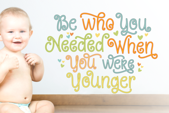 Print on Demand: Young Daughter Script & Handwritten Font By Situjuh - Image 2