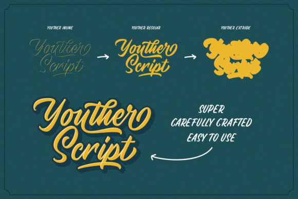 Youther Duo Font By letterhend Image 3