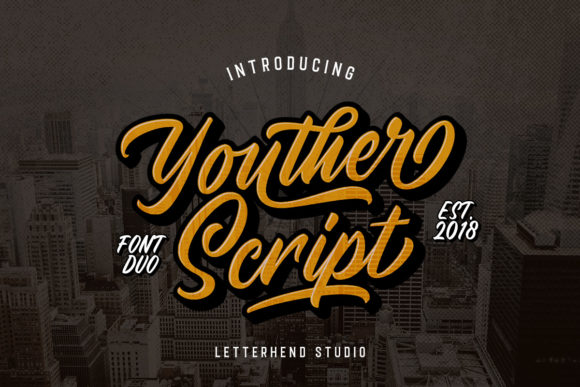 Print on Demand: Youther Duo Script & Handwritten Font By letterhend